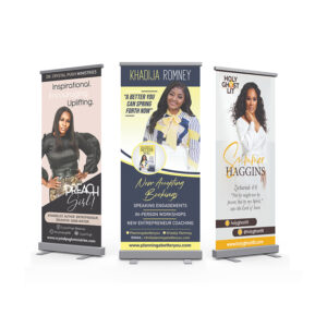 OUR WORK RETRACTABLE BANNER NEW